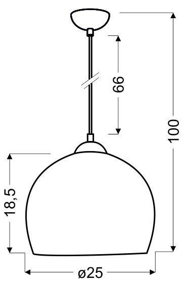 LAMPA SUFITOWA WISZĄCA STUDENT 31 96664 E27 PISTACJA Candellux